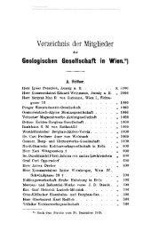 Verzeichnis der Mitglieder Geologischen Gesellschaft in Wien.*)