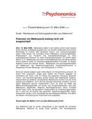 +++ Pressemitteilung vom 10. März 2008 +++ Potenzial ... - YouGov