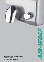 händetrockner serie a - Air-Wolf GmbH