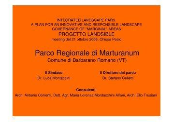 Parco Regionale di Marturanum - Landsible.eu