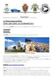 Settembre, e' tempo di... MATRA in Abruzzo - Matra Classic Club Italia