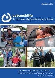 Wenn einer eine Reise tut - bei der Lebenshilfe in Hanau