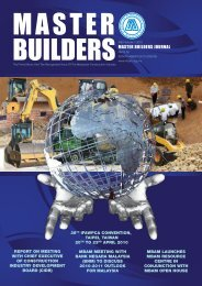 Master Builders Journal (Vol 1) - Master Builders Association Malaysia
