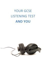 YOUR GCSE LISTENING TEST AND YOU