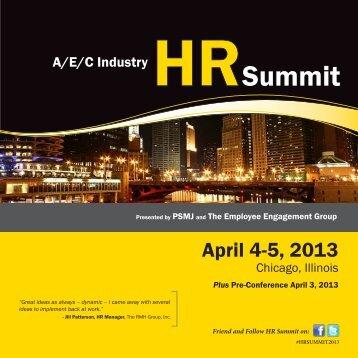 2013-AEC-HR-Summit-Brochure