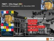 TIBET – Villa Hügel 2006 ⬈ Kundenbefragung '06 - Metropole Ruhr