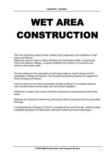 TAFE wet area text.pdf - Mike's Trade Wiki