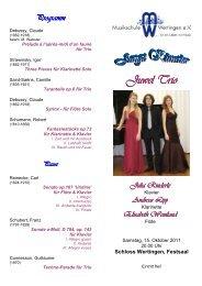 Programm Juwel Trio - Musikschule Wertingen