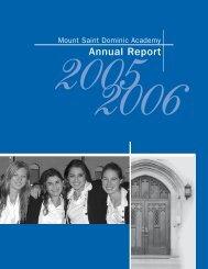 Annual Report - Mount Saint Dominic Academy