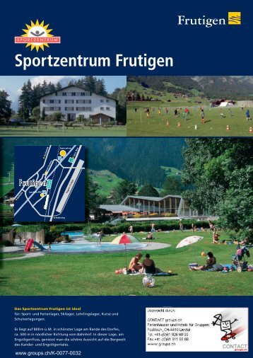 Sportzentrum Frutigen - CONTACT groups.ch
