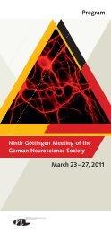 Program 2011 - Neurowissenschaftliche Gesellschaft eV - MDC