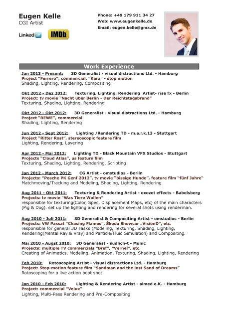 Download full detailed PDF resume here - Eugen Kelle :: Portfolio