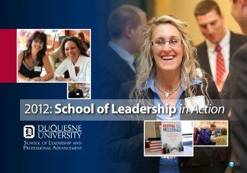 2012: School of Leadership in Action