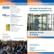 Programm Schwelmer Symposium 2011 - Swiss Lift Electronic AG