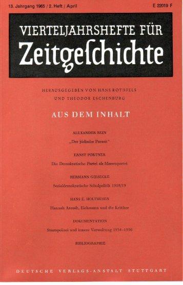 Alexander Bein - Institut für Zeitgeschichte