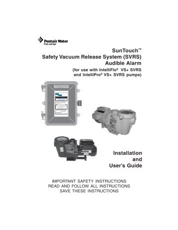 intelliflo vs svrs manual user manual guide u2022 rh userguidedirect today IntelliFlo Variable Speed Pump IntelliFlo Variable Speed Pump