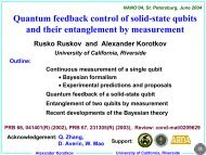 Quantum feedback control of solid-state qubits and their ...