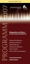 Programm Sommer 2007 - Pianistenclub eV