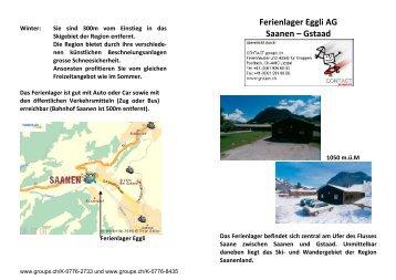 Ferienlager Eggli AG Saanen – Gstaad