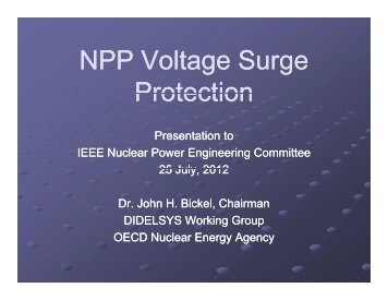 NPP Voltage S rge NPP Voltage Surge Protection - Working Group ...