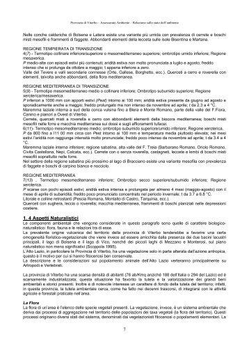 7 1. 4 Aspetti Naturalistici - Provincia di Viterbo
