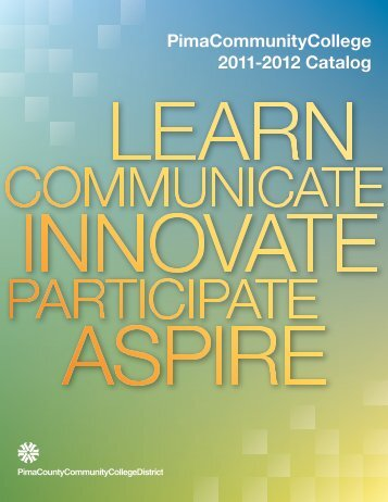 College Catalog Cover Design 2 - Pima Community College