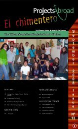 September 2 0 0 8 - Projects Abroad