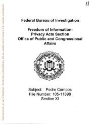 Pedro Campos File Number - FBI Files on Puerto Ricans