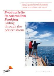 Productivity in Australian Banking Sailing through the perfect ... - PwC