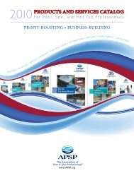 PRODUCTS AND SERVICES CATALOG - The Association of Pool ...