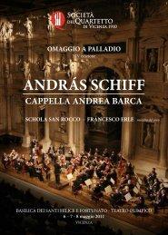 ANDRÁS SCHIFF - Società del Quartetto di Vicenza