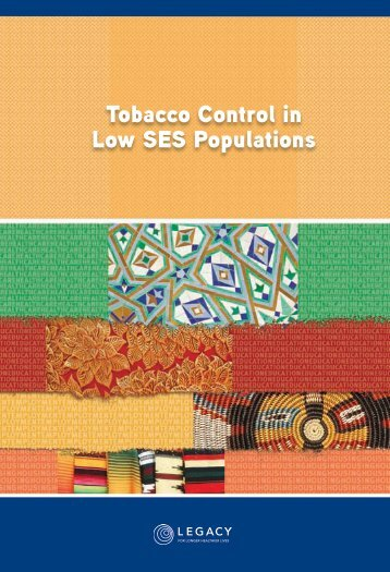 Tobacco Control in Low SES Populations - American Legacy ...