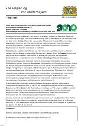 Pressemitteilung Nr. 244/2010 - Die Regierung von Niederbayern