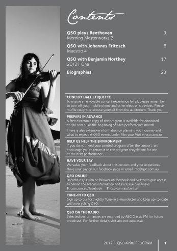 April 2012 - Queensland Symphony Orchestra