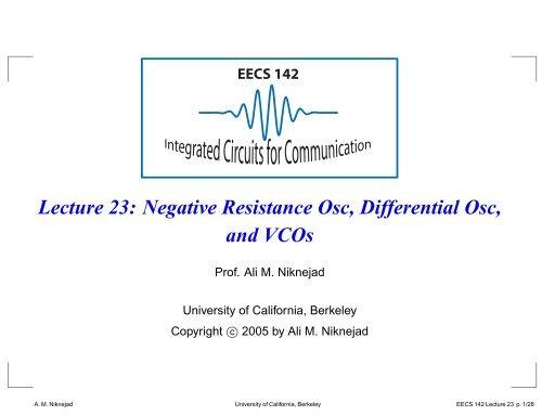 EECS 142 Lecture 23 - RFIC - University of California, Berkeley