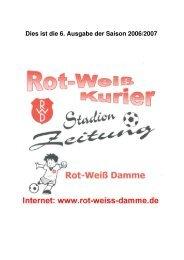 Dies ist die 6. Ausgabe der Saison 2006/2007 - Rot Weiss Damme
