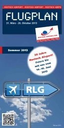 Flugplan Sommer 2013 - Flughafen Rostock-Laage