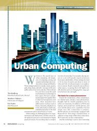 Urban Computing - Eric Paulos