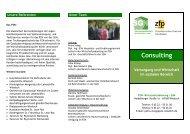 Consulting Versorgung und Wirtschaft im sozialen Bereich