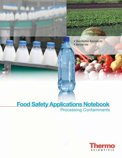 Food Safety Applications Notebook - Thermo Scientific