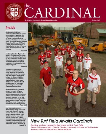 New Turf Field Awaits Cardinals - St. Charles Preparatory School