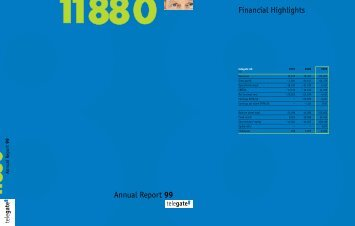 Annual Report 99 Financial Highlights - telegate AG