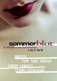 Konzert Film- Tanz-Theater Lesung Austellung - Taubenschlag