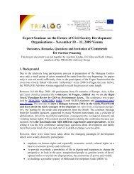 The Future of Civil Society Development Organisations - Trialog
