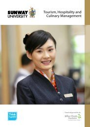 Tourism, Hospitality and Culinary Management - Sunway College