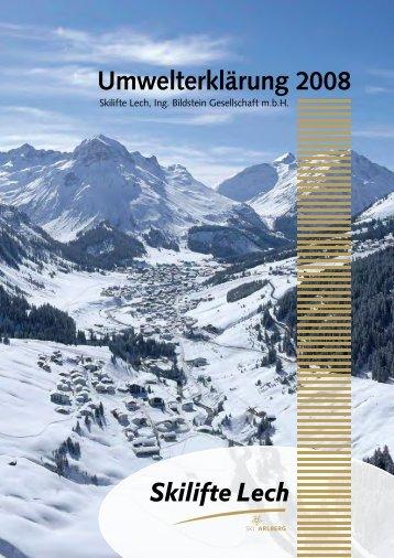 Umwelterklärung Skilifte Lech