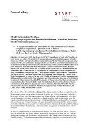 Pressemitteilung - START-Stiftung
