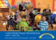 Geburtstagsbroschüre - Kinder-Hospiz Sternenbrücke