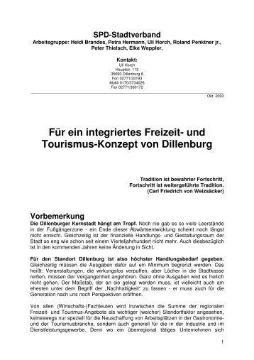 Für Ein Integriertes Freizeit- Und Tourismus ... - spd-dillenburg.de