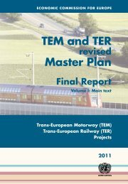 TEM and TER Master Plan - UNECE